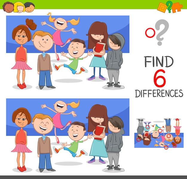 Individuare le differenze con i bambini