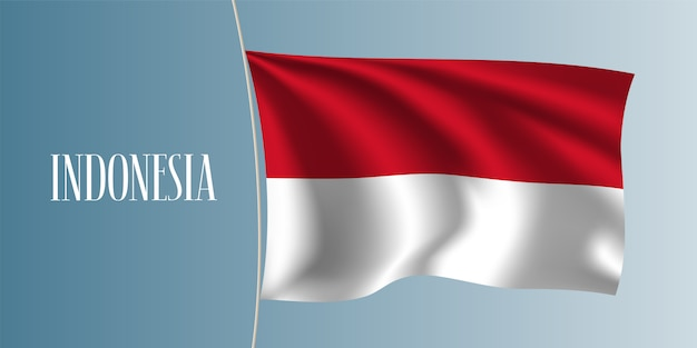 Indonesia sventolando bandiera