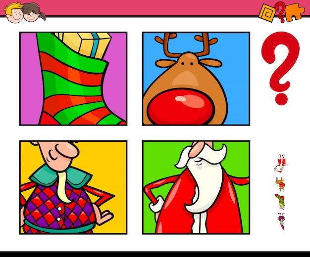 Indovina i personaggi natalizi e temi per bambini