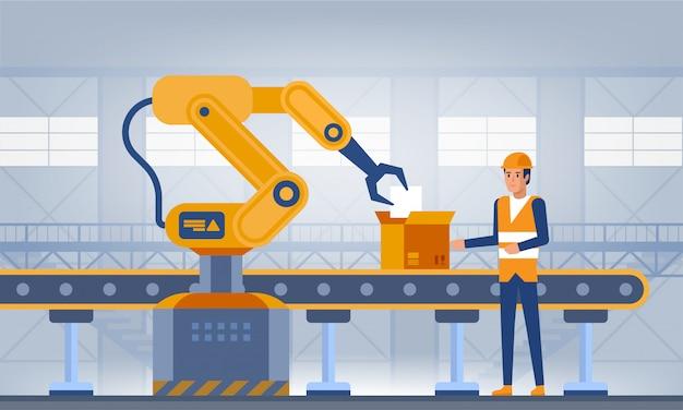 Industria, concetto di fabbrica intelligente.