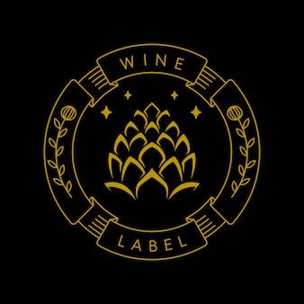 Industria dell'etichetta del vino