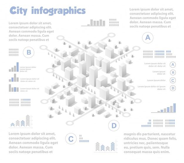 Industria mappa città isometrica