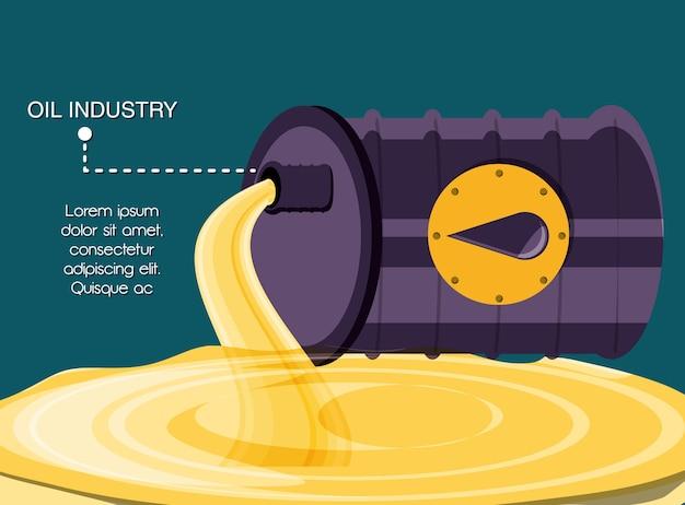 Industria petrolifera con canna