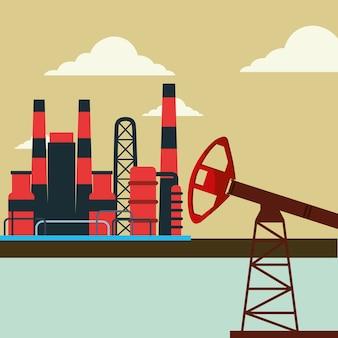 Industria petrolifera della pompa di gas di potenza dell'impianto di fabbrica