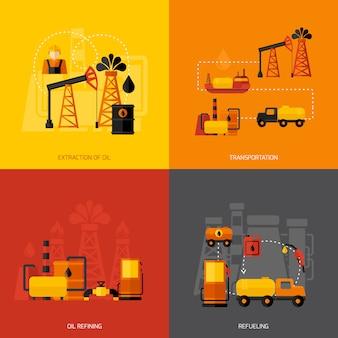 Industria petrolifera piatta