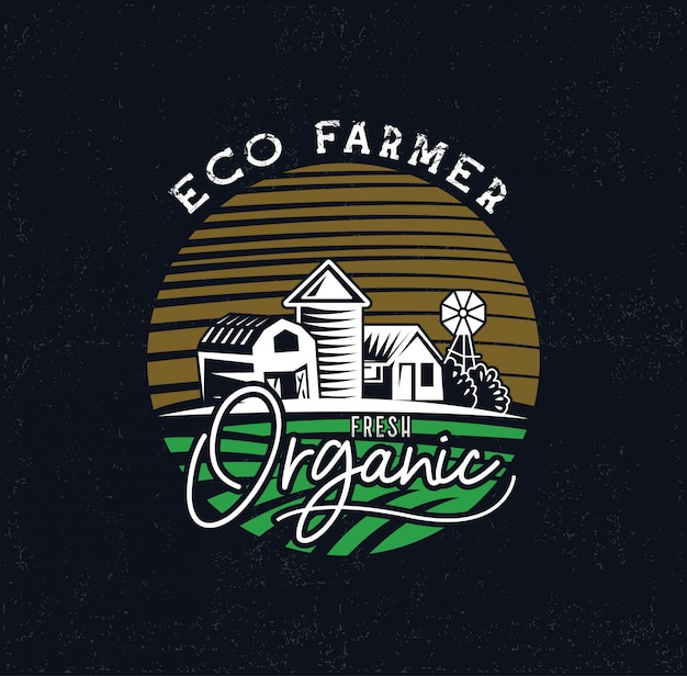 Industrie di logo dell'azienda agricola