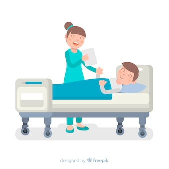 Infermiera che aiuta priorità bassa paziente