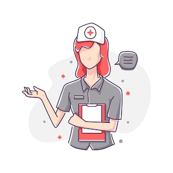 Infermiera ospedaliera medica