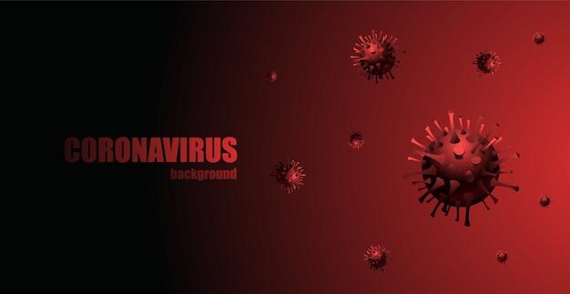 Infezione virale. immagine di sfondo di coronavirus.