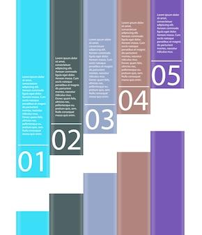 Infografia illustrazione degli elementi di design