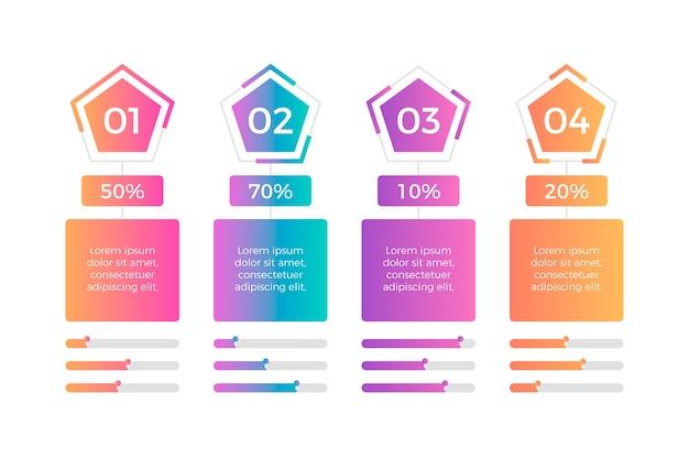 Infografica a gradiente