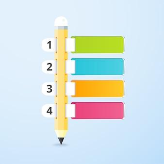 Infografica a matita con etichetta a scelta 4