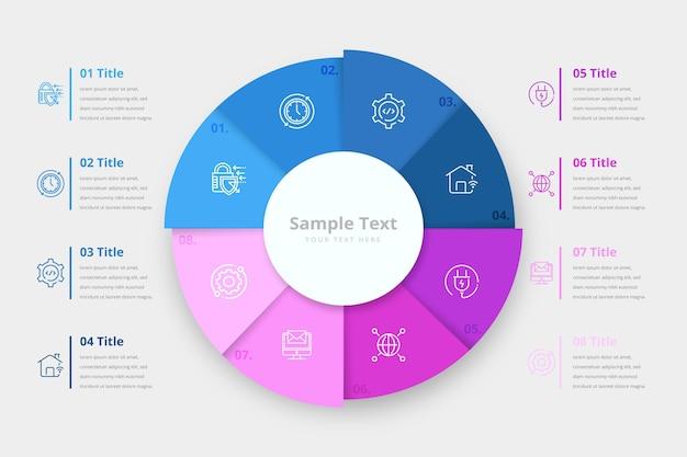 Infografica anello colorato