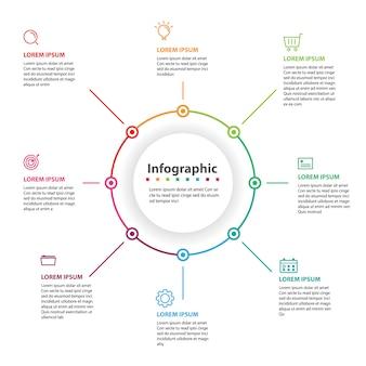 Infografica astratta, illustrazione vettoriale