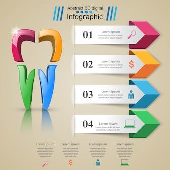 Infografica aziendale. icona del dente