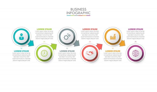 Infografica aziendale modello