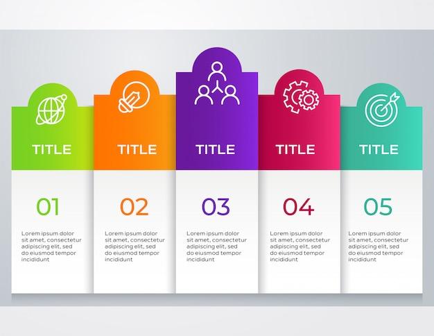Infografica aziendale passo