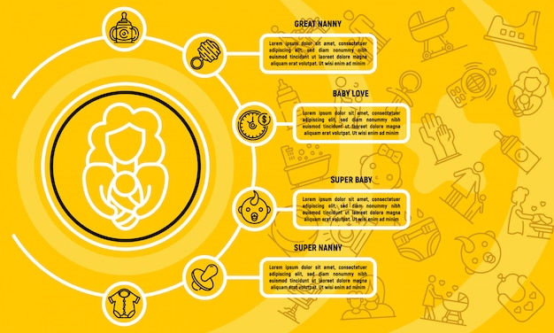 Infografica babysitter, struttura di stile