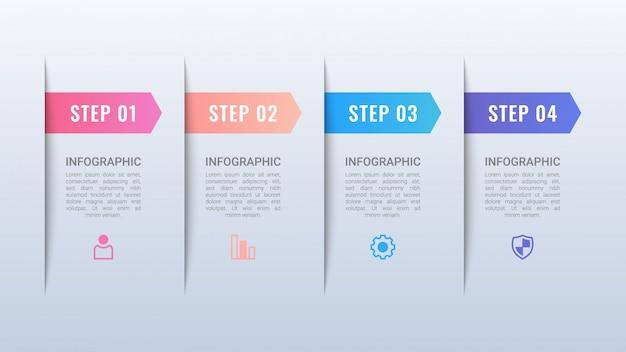 Infografica business semplice con opzioni