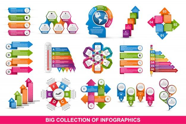 Infografica collezione. elementi di design