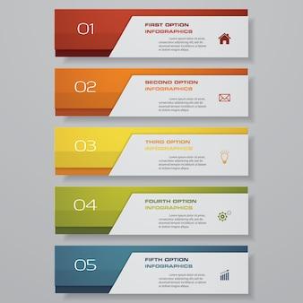 Infografica con banner verticali
