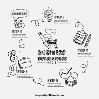 Infografica con disegni