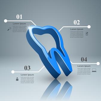 Infografica del dente.