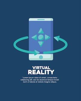 Infografica del design di realtà virtuale con l'icona