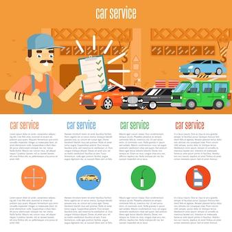 Infografica del negozio di auto