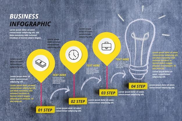 Infografica di affari con foto