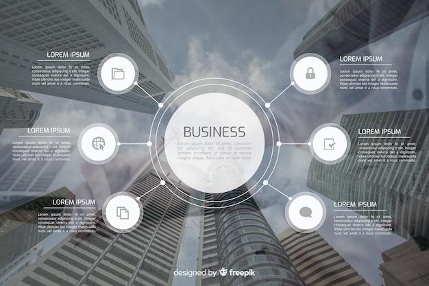 Infografica di affari con immagine