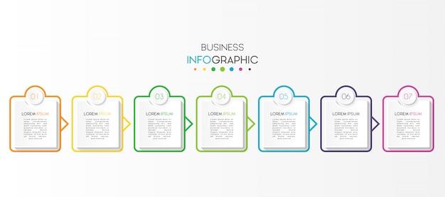 Infografica di affari con opzioni o passaggi