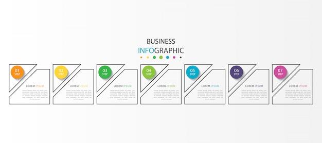 Infografica di affari con passaggi o opzioni