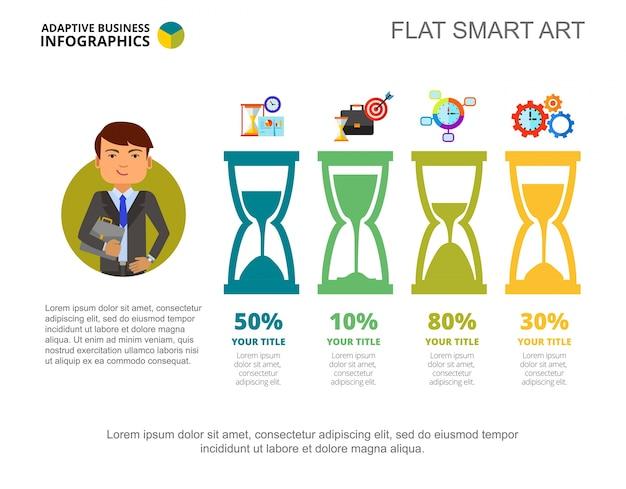 Infografica di affari con sandglasses