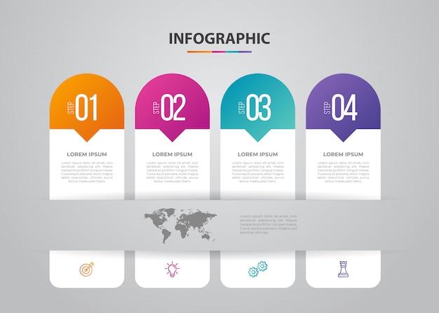 Infografica di affari. design minimalista e piatto. statistiche sulle imprese