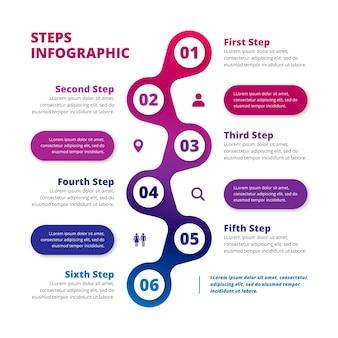 Infografica di affari di passaggi