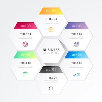 Infografica di affari moderni