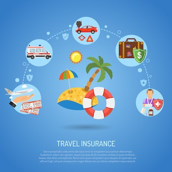 Infografica di assicurazione di viaggio