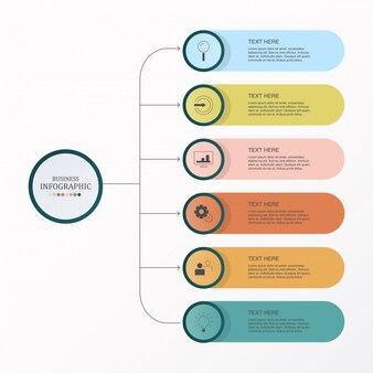 Infografica di base e icone di lavoro