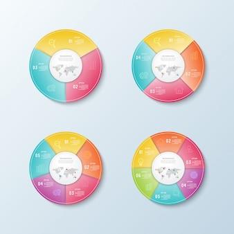 Infografica di business e visualizzazione dei dati