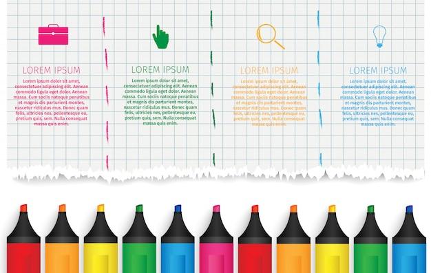 Infografica di educazione.