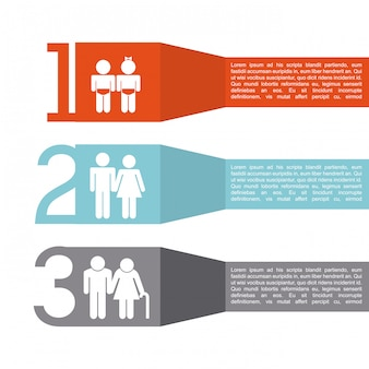 Infografica di famiglia
