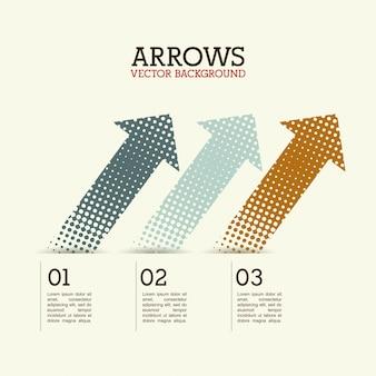 Infografica di frecce su sfondo bianco