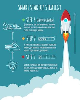 Infografica di lancio del razzo
