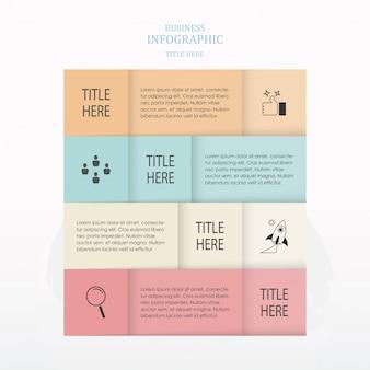 Infografica di lavagna quadrata