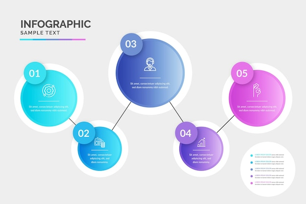 Infografica di processo gradiente