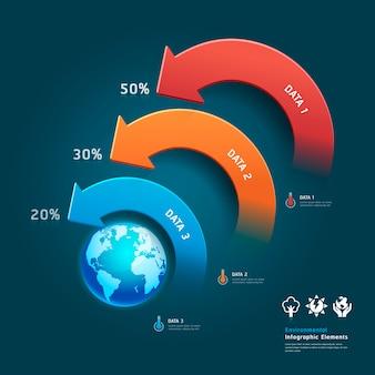 Infografica di protezione ambientale