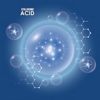 Infografica di riempimento di acido ialuronico