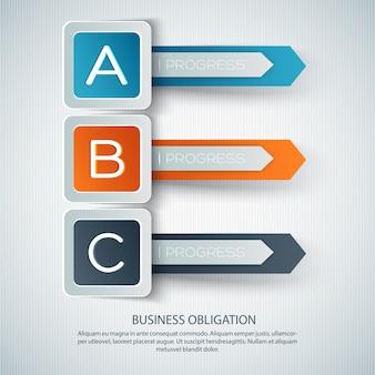 Infografica di sviluppo aziendale