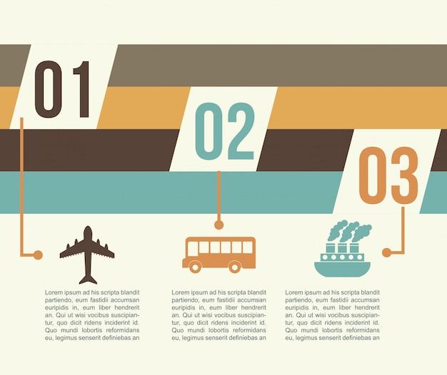 Infografica di viaggio su sfondo bianco